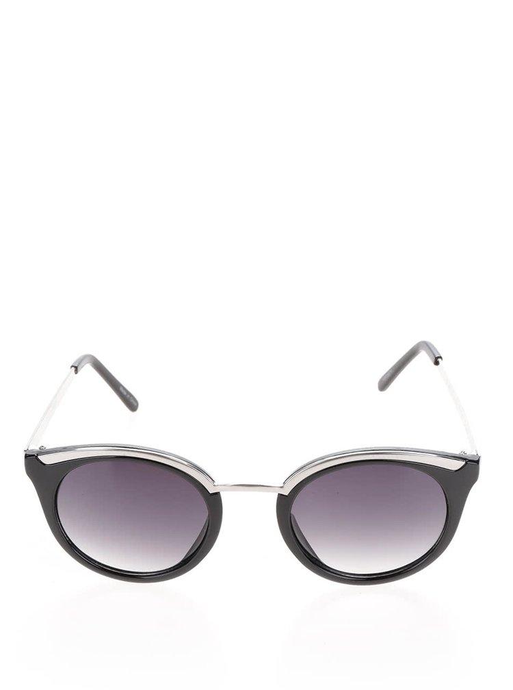 Černé sluneční brýle Pieces Lena
