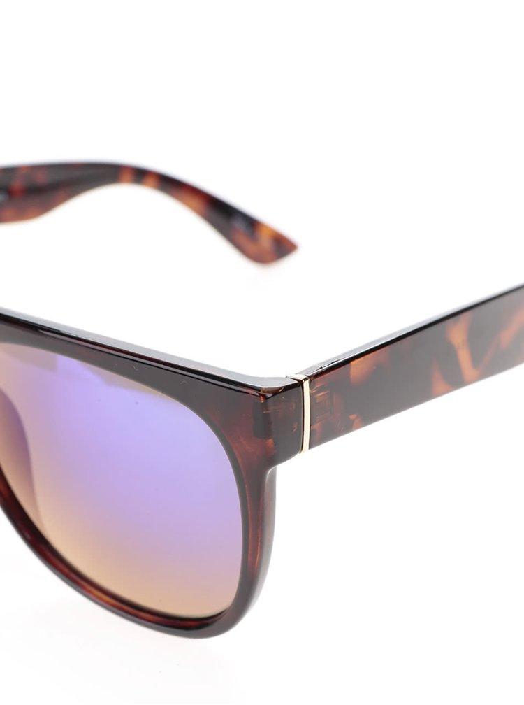 Ochelari de soare maro Pieces Lenni cu model