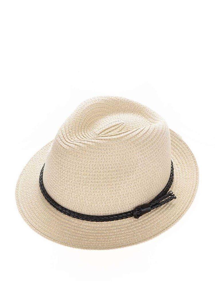 Pălărie bej Pieces Lea cu șnur împletit