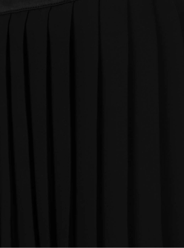 Fustă neagră plisată Miss Selfridge cu dantelă