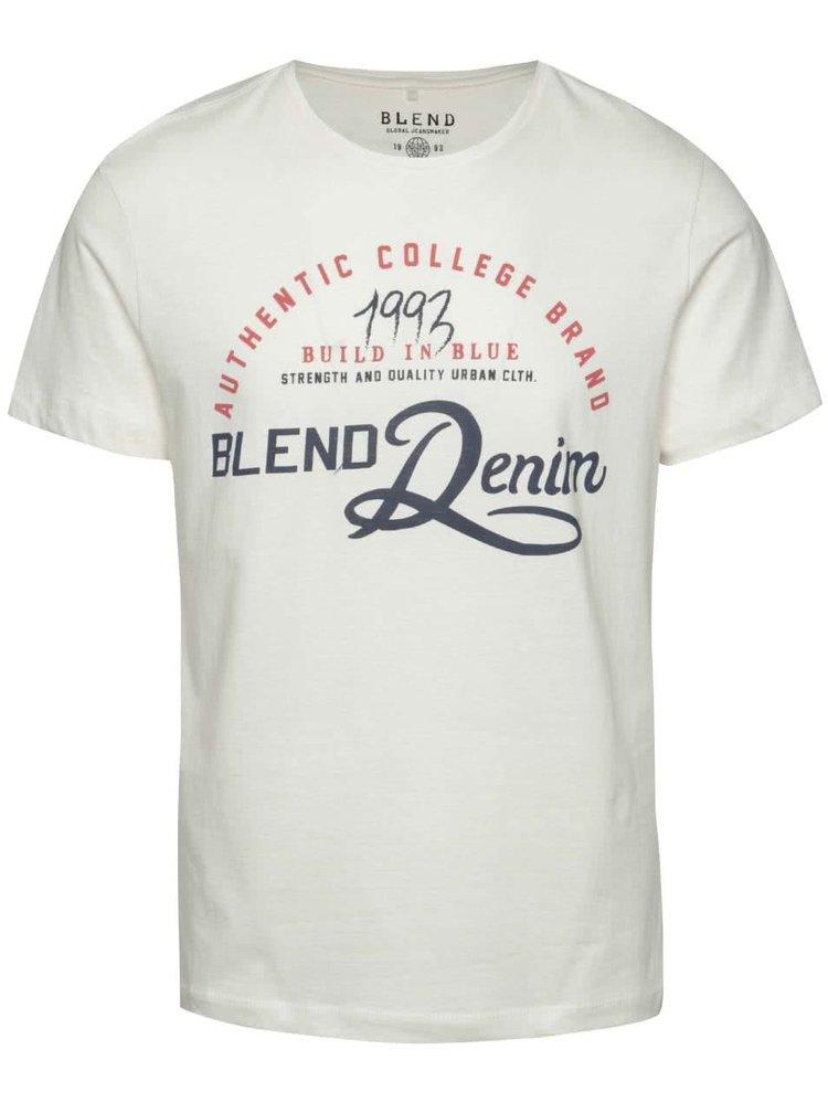 Krémové triko s červeným potiskem Blend