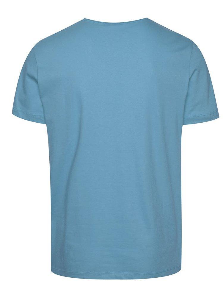Světle modré triko s potiskem Blend