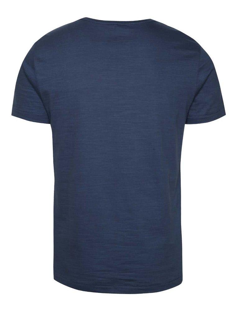 Tricou bleumarin Blend cu logo print