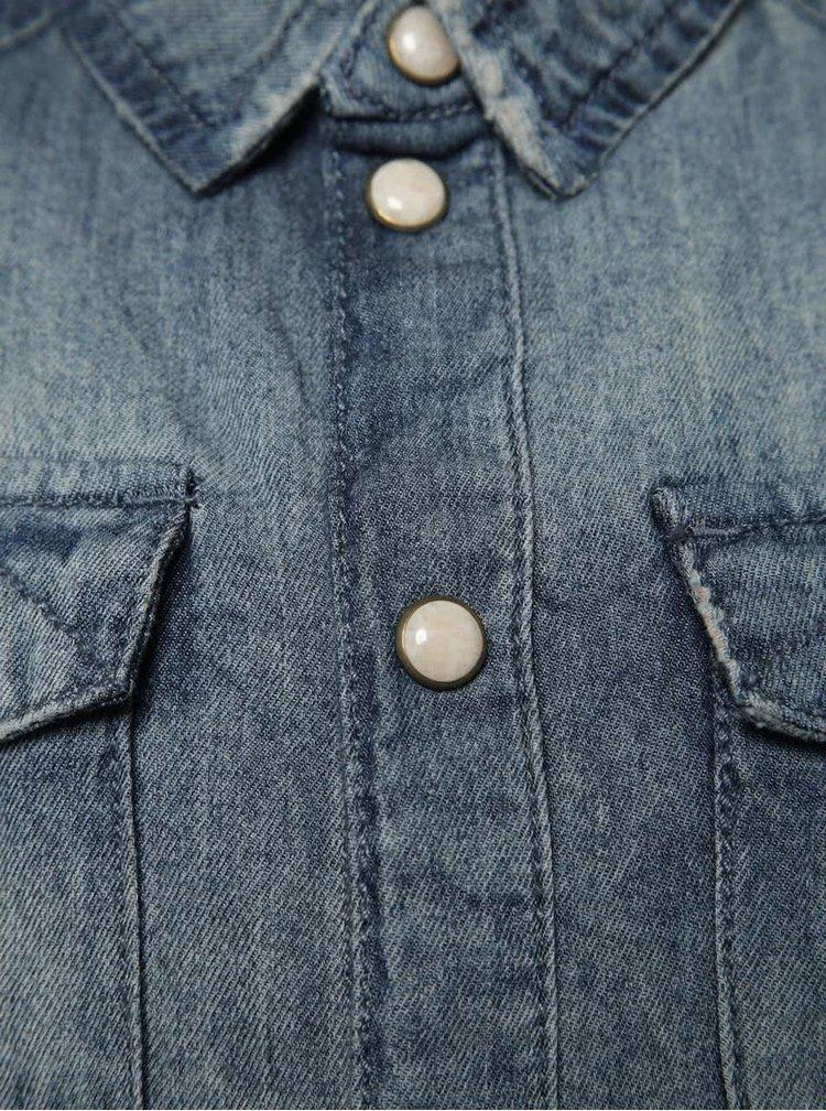 Modrá klučičí džínová košile name it Acar