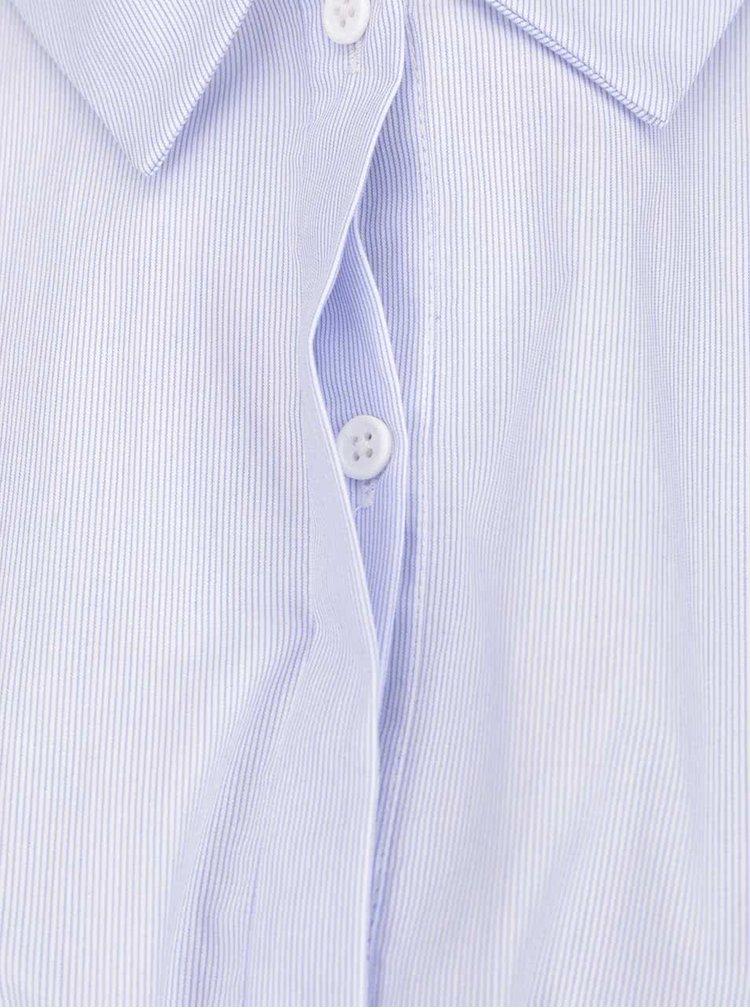 Světle modré košilové šaty s pruhy French Connection Smithson