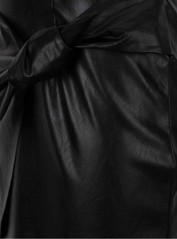 Fustă neagră Miss Selfridge cu aspect de piele