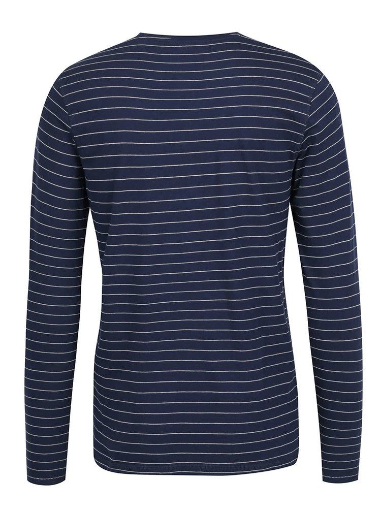 Tmavě modré pruhované triko ONLY & SONS Teo