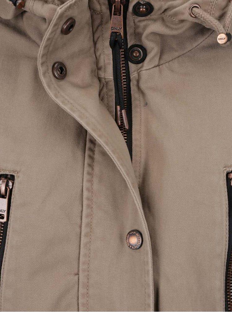 Jachetă parka bej ONLY Forever