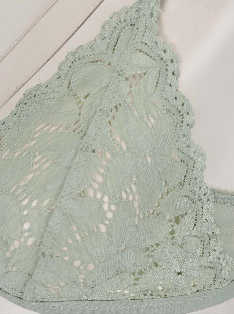 Světle zelená krajková podprsenka Y.A.S Audriana