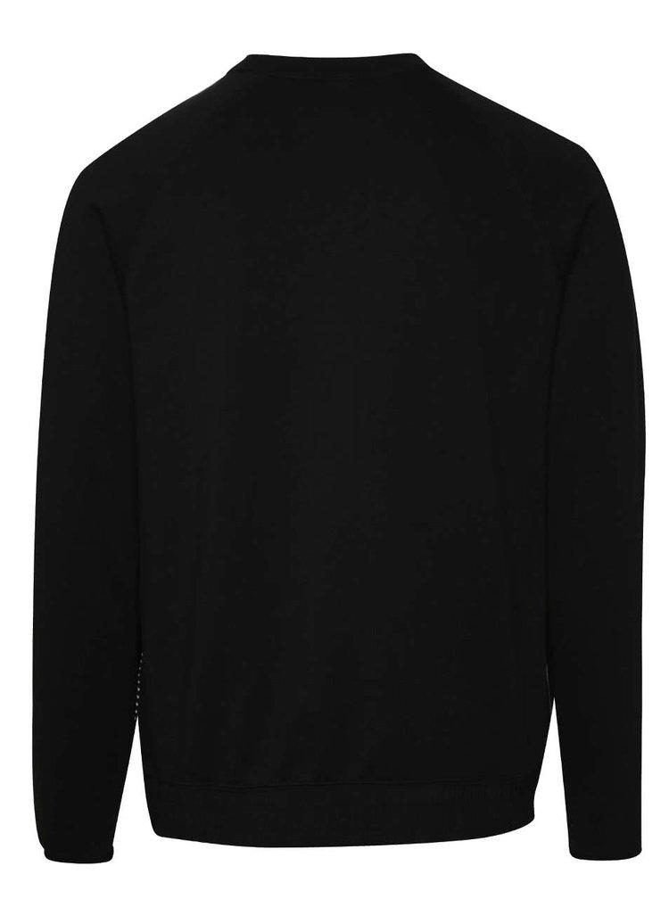 Bluză sport alb&negru Nike International cu mâneci raglan
