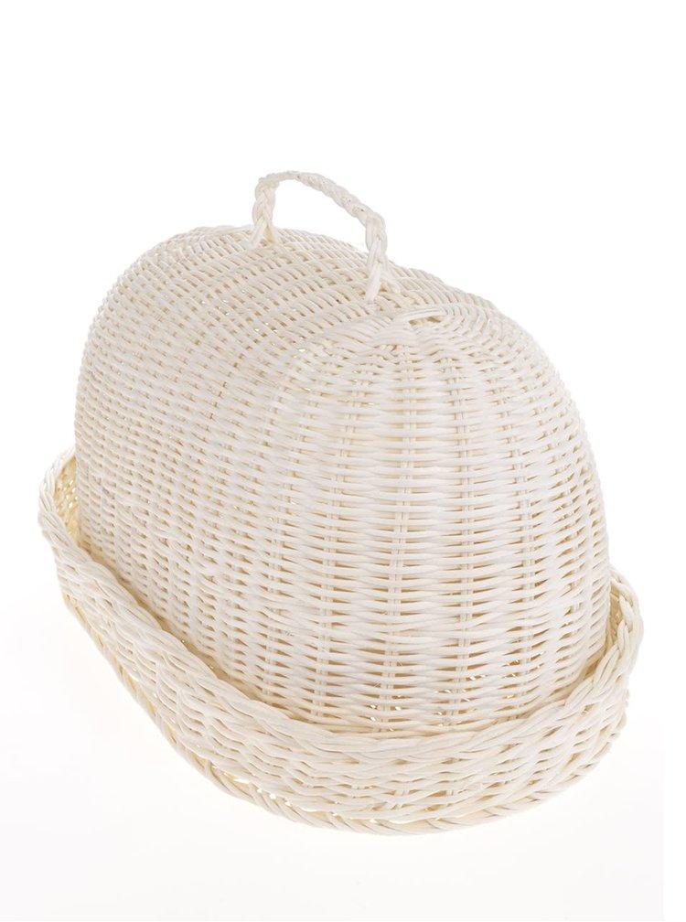 Béžová oválná chlebovka s utěrkou Dakls