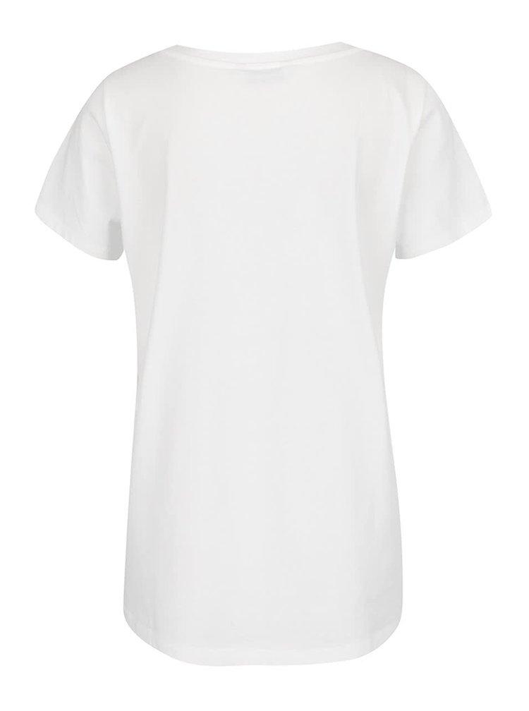 Tricou alb cu imprimeu ONLY New Kita