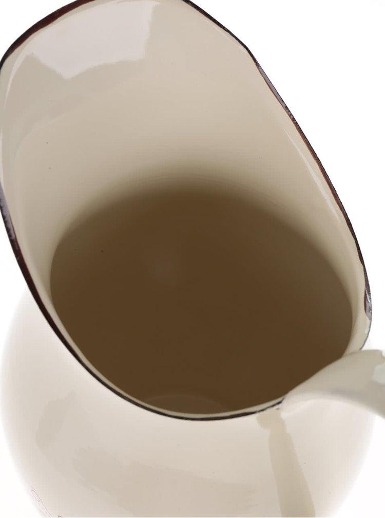 Béžový džbán s motivem srdce Dakls
