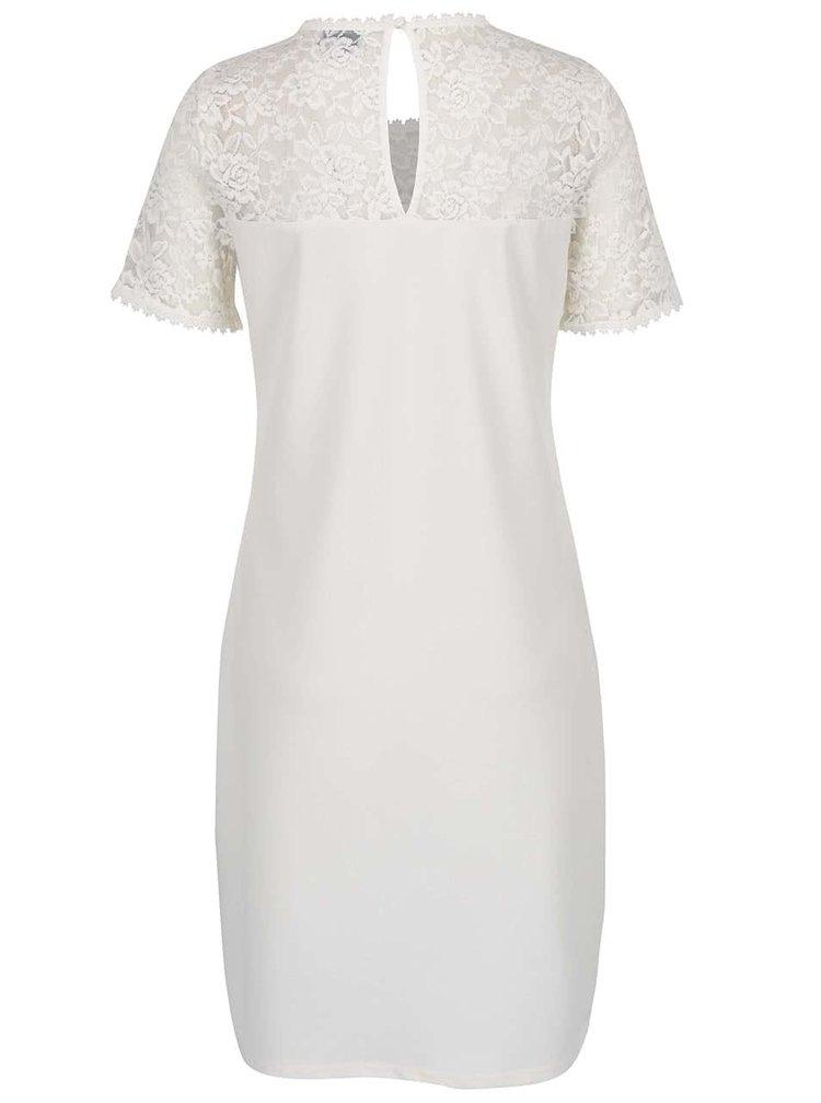 Krémové šaty s krajkovým sedlem ONLY Mace