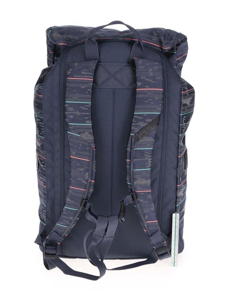 Tmavě modrý vzorovaný unisex batoh Burton Tinder 25 l