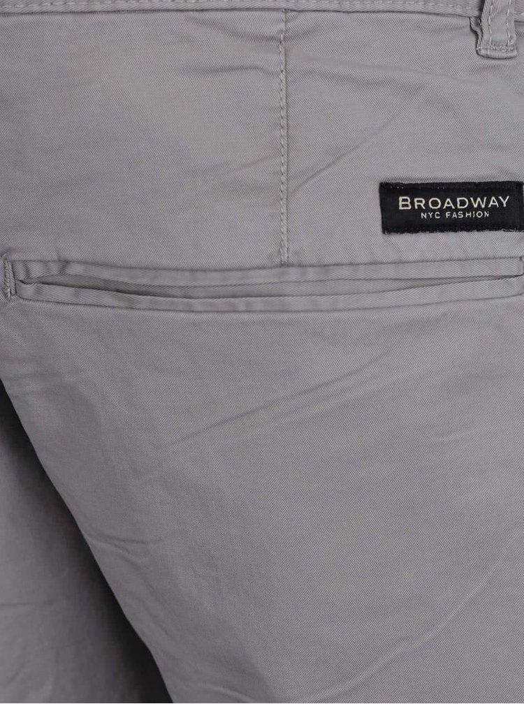 Pantaloni chino gri deschis Broadway Wayne