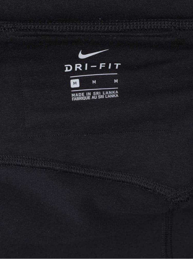 Černé dámské funkční legíny s potiskem Nike Dry
