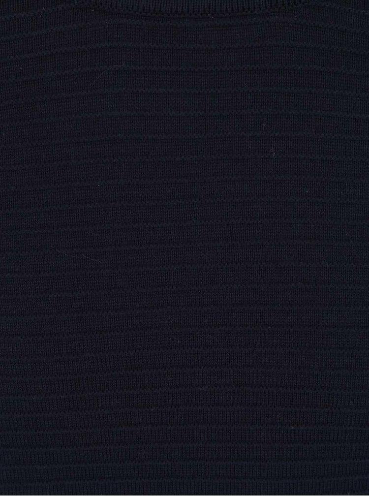 Pulover bleumarin din jerseu Broadway Adin cu striații