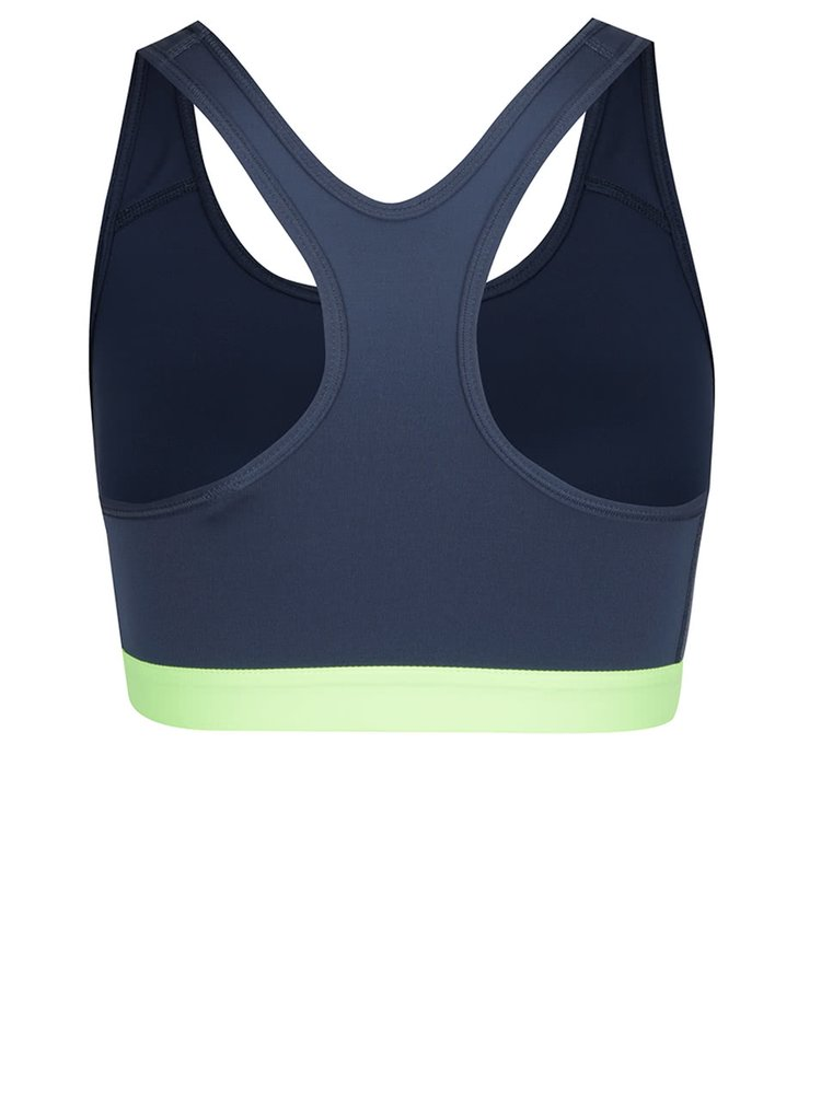 Zeleno-modrá sportovní podprsenka Nike Pro Classic
