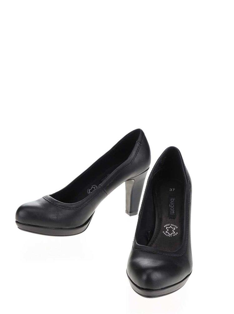 Pantofi negri bugatti Haven cu platforma