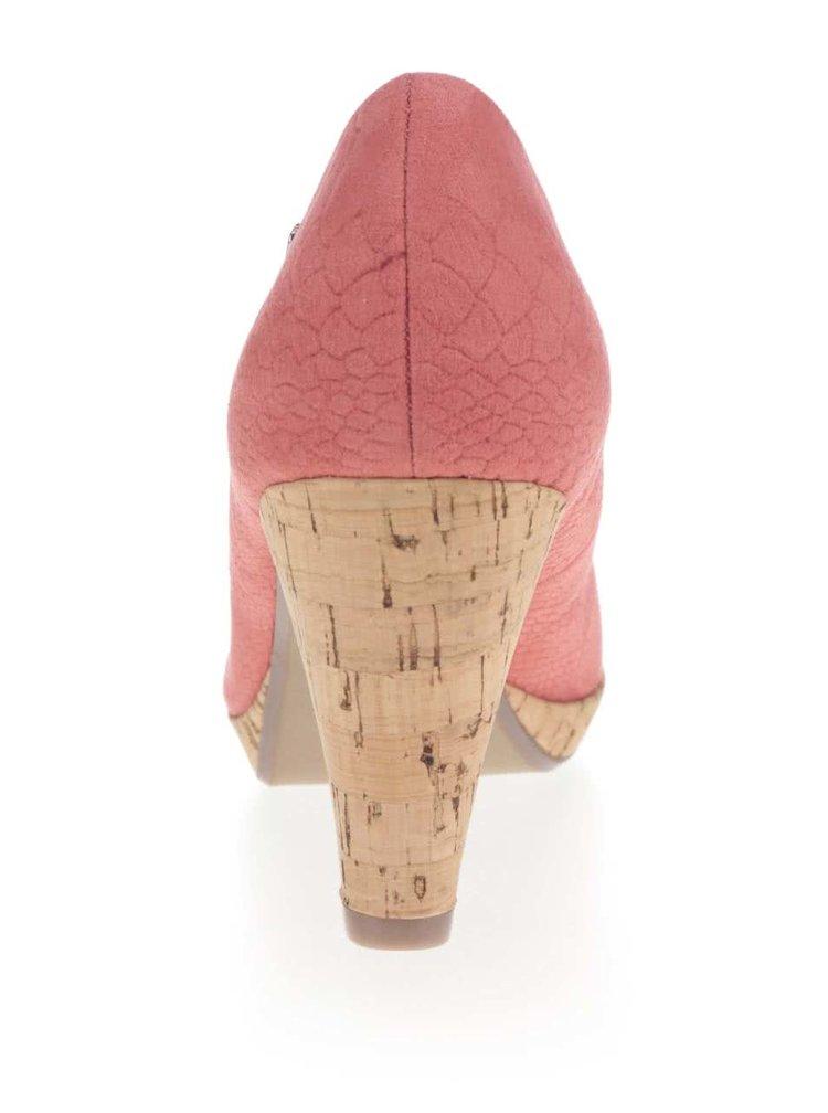 Růžové lodičky s jemným vzorem bugatti Isabella
