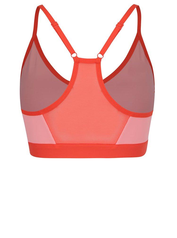 Červeno-růžová sportovní podprsenka Nike Pro Indy