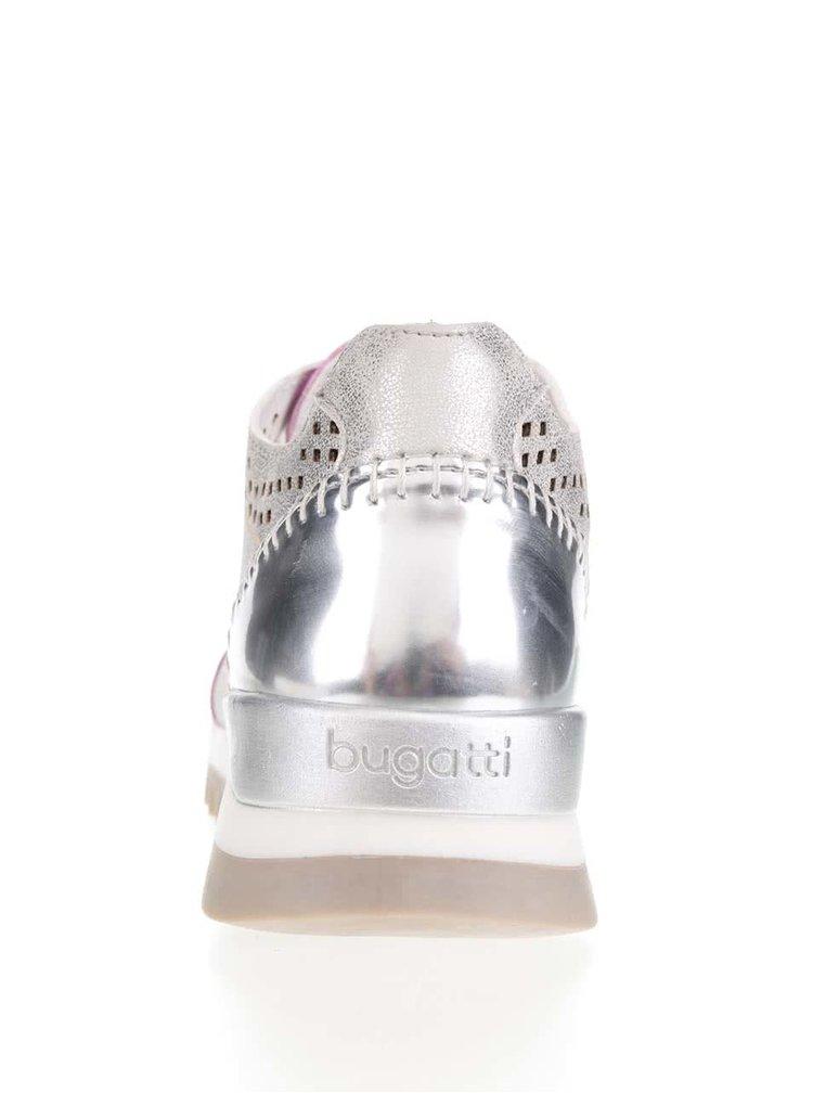 Dámské tenisky ve stříbrné barvě bugatti Farah