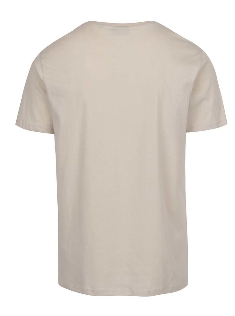Krémové pánské triko s potiskem Broadway Bennie