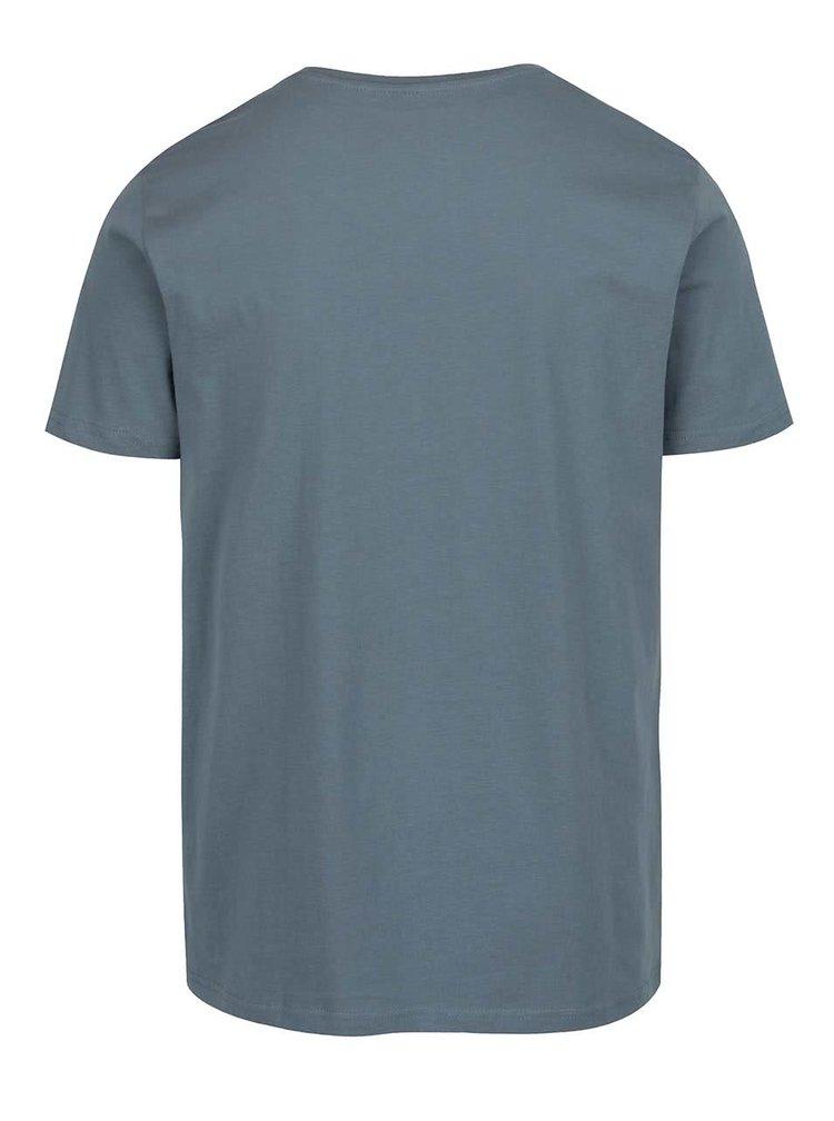 Tmavě modré pánské triko s potiskem Broadway Bennie