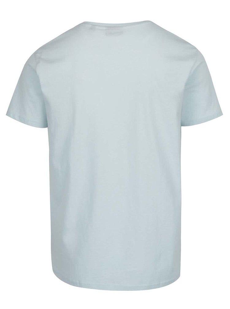 Světle modré pánské triko s potiskem Broadway Bennie