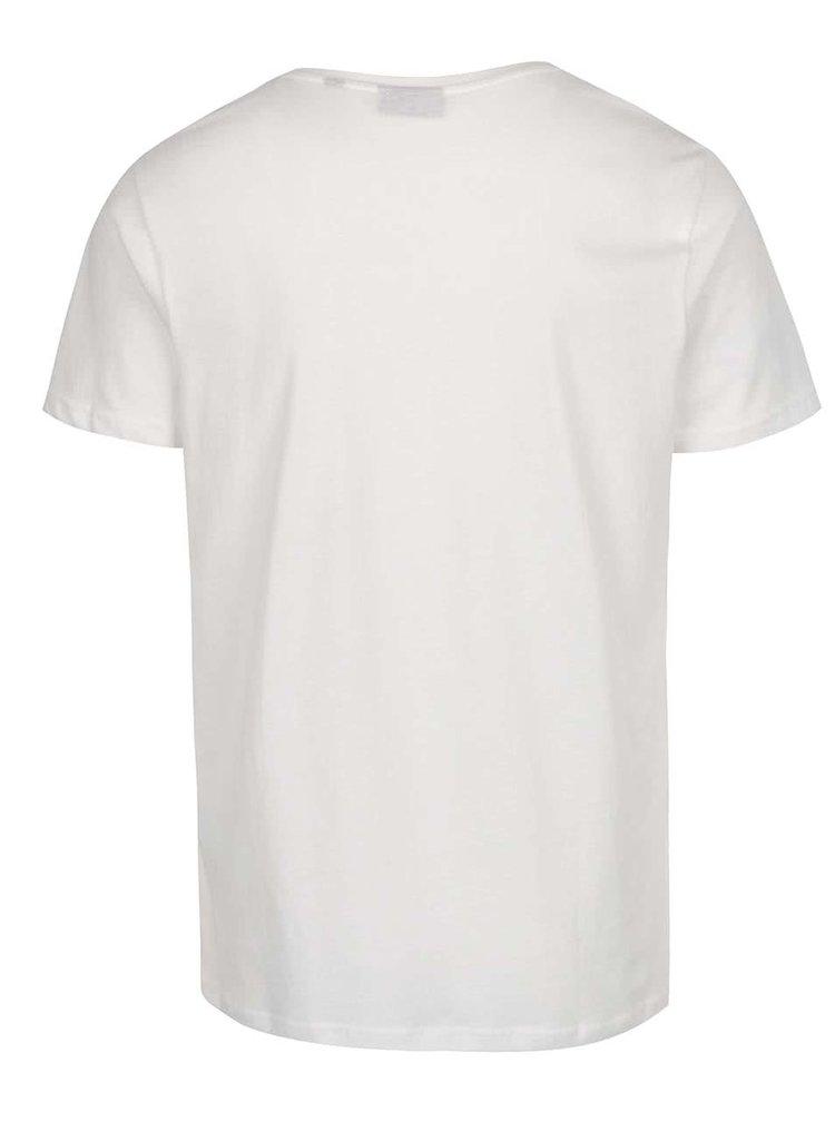 Bílé pánské triko s potiskem Broadway Bennie