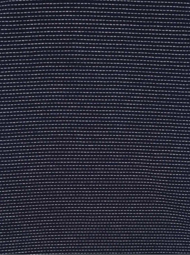Modré pánské žíhané polo triko Broadway Burley