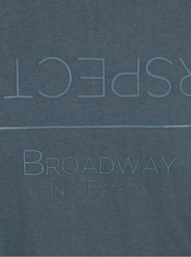Bluza albastra Broadway Cand cu print