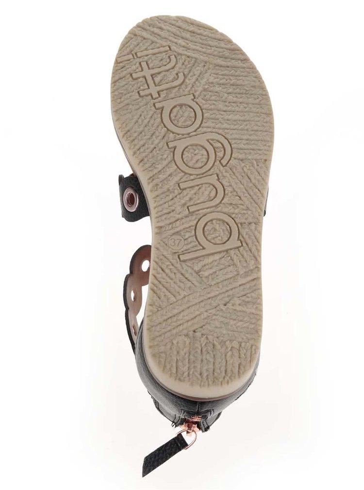 Černé dámské sandály bugatti Jodie