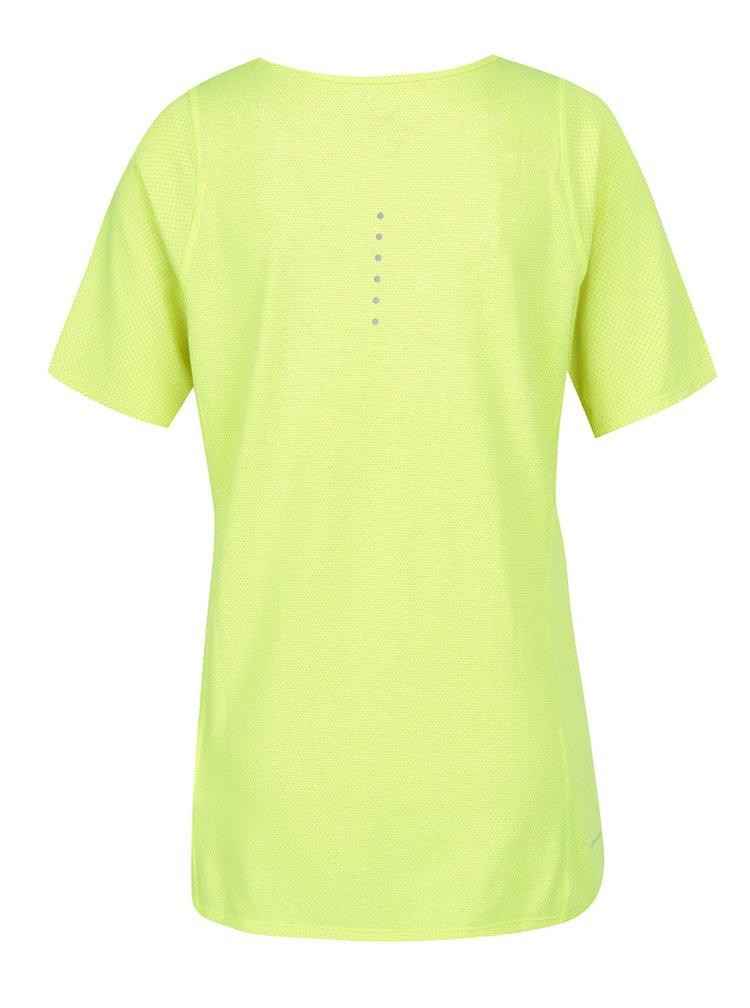 Tricou galben neon de antrenament pentru femei Nike Zonal Cooling Relay