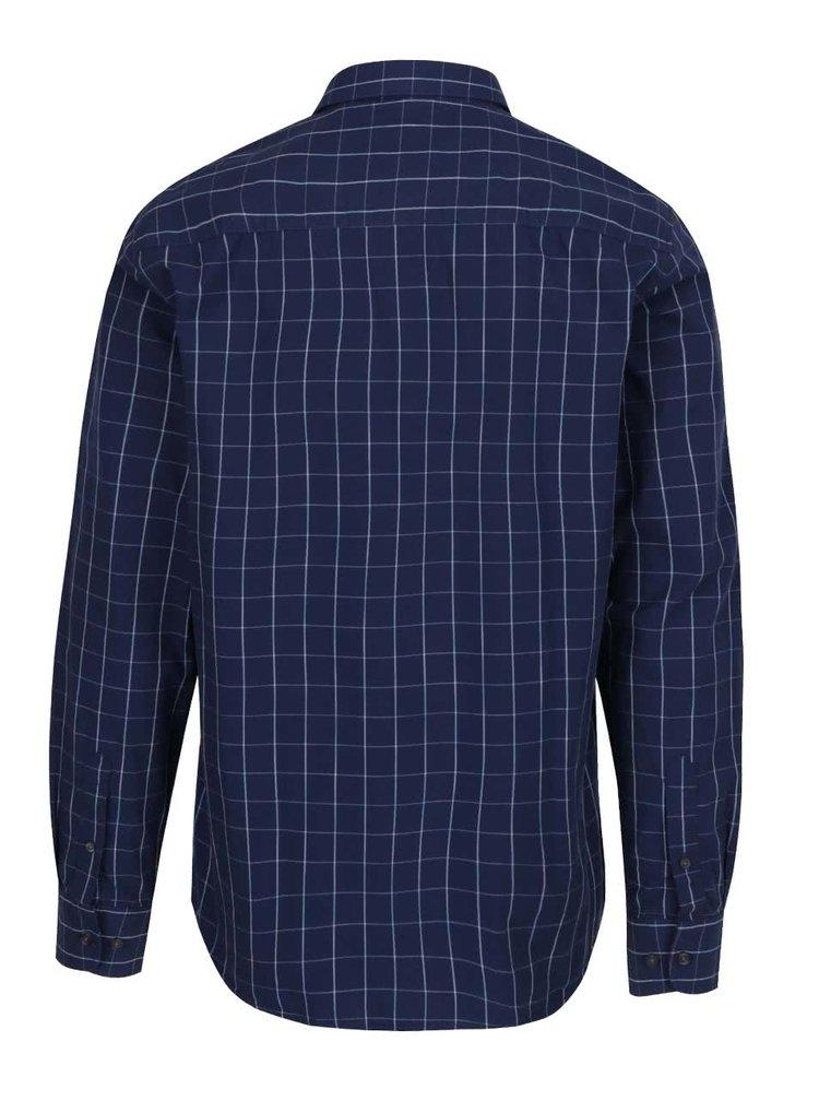 Modrá pánská kostkovaná košile Broadway Alby
