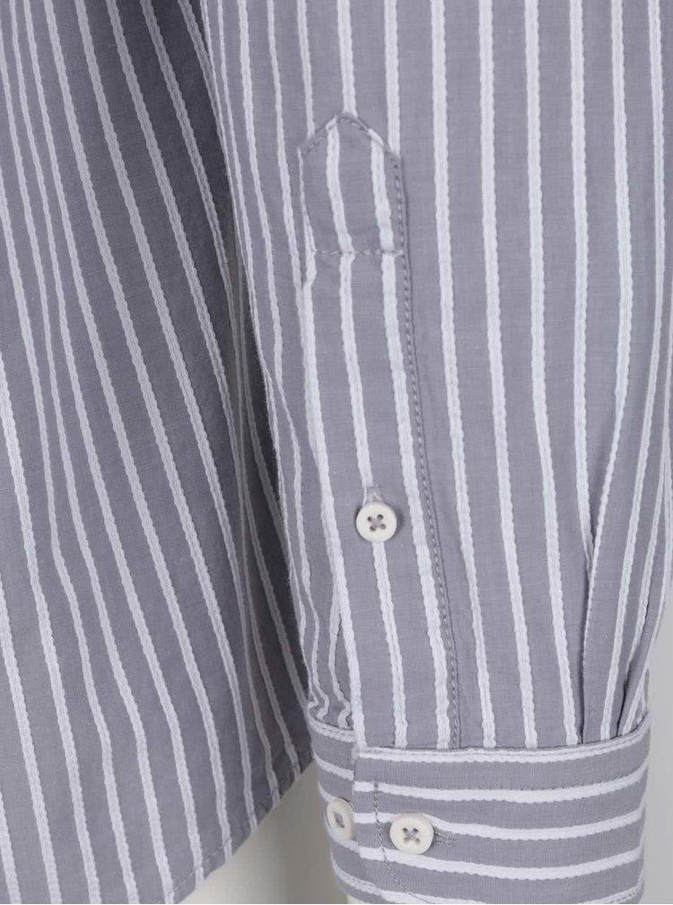 Šedá pánská pruhovaná košile Broadway Claris