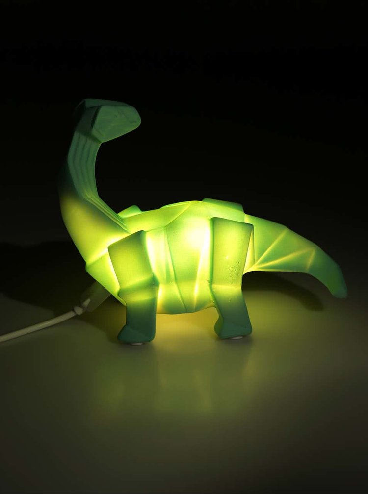 Tyrkysová LED lampa Disaster Dinosaur