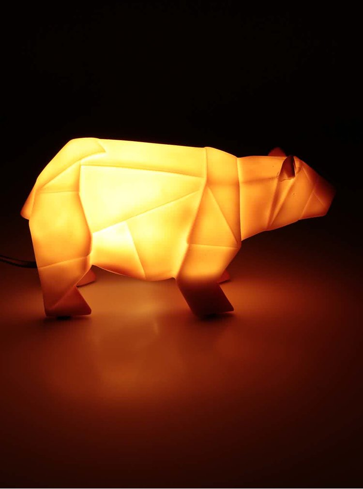 Lampa LED portocalie in forma de urs origami - Disaster Bear