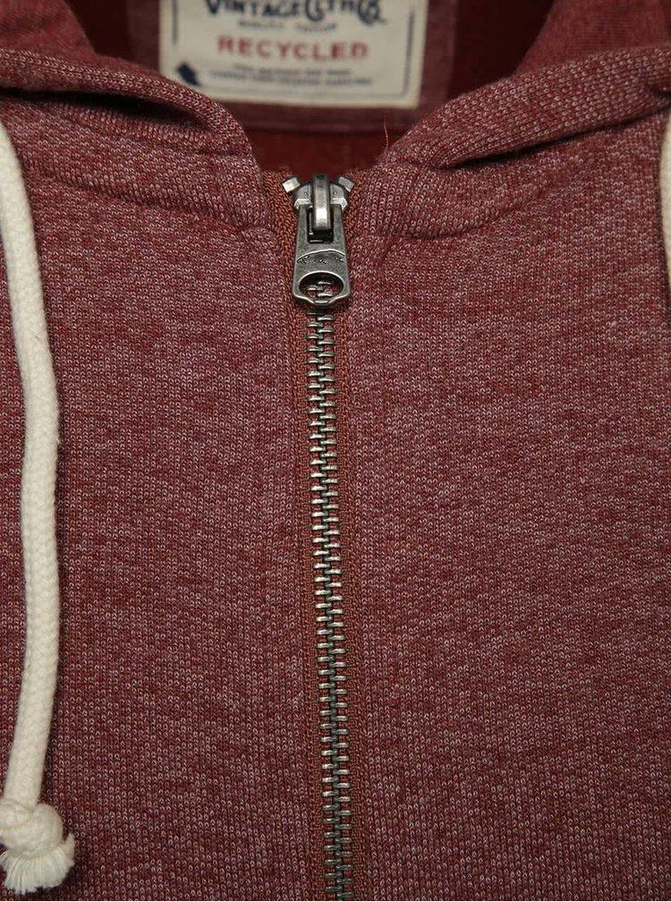 Červená mikina na zip s kapucí Jack & Jones Recycle
