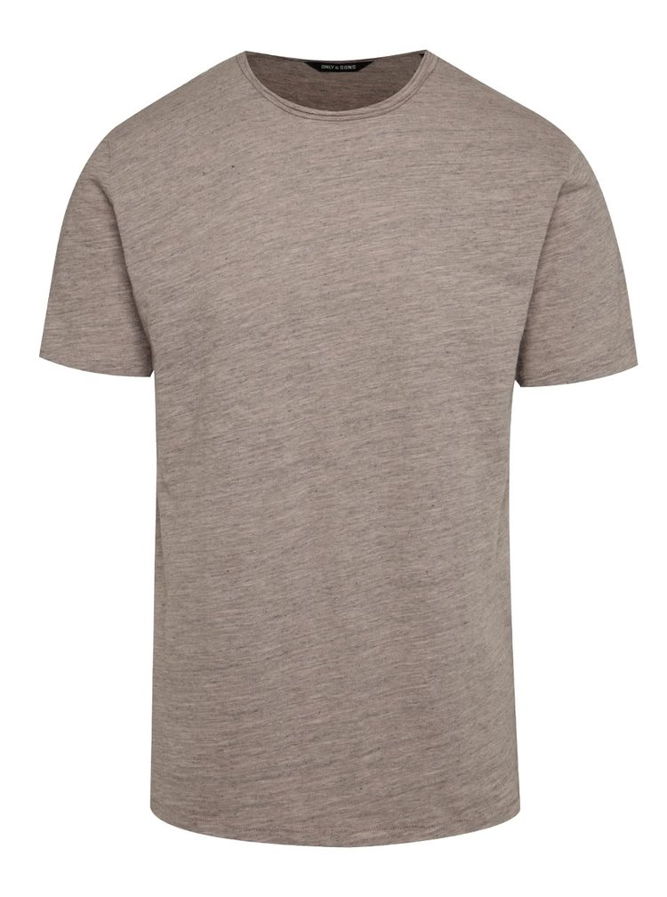 Tricou basic bej melanj ONLY & SONS Albert