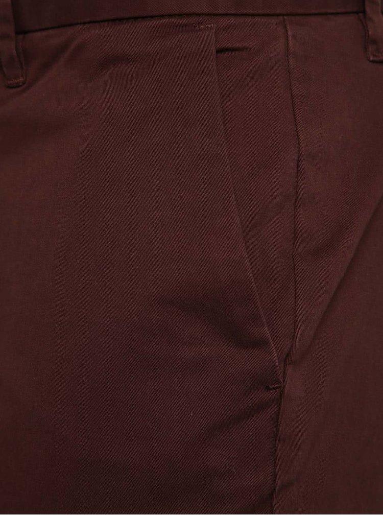 Vínové chino nohavice Jack & Jones Marco