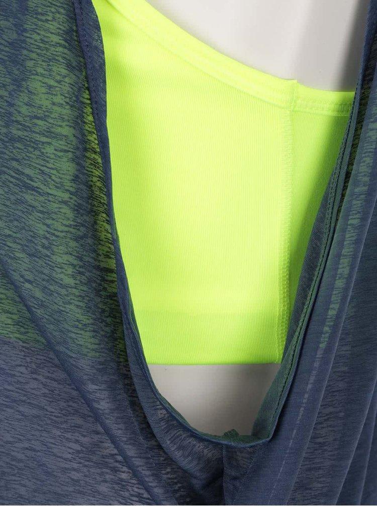 Maiou albastru cu galben Nike Training