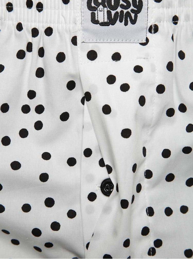 Bílé puntíkované trenýrky Lousy Livin Dots