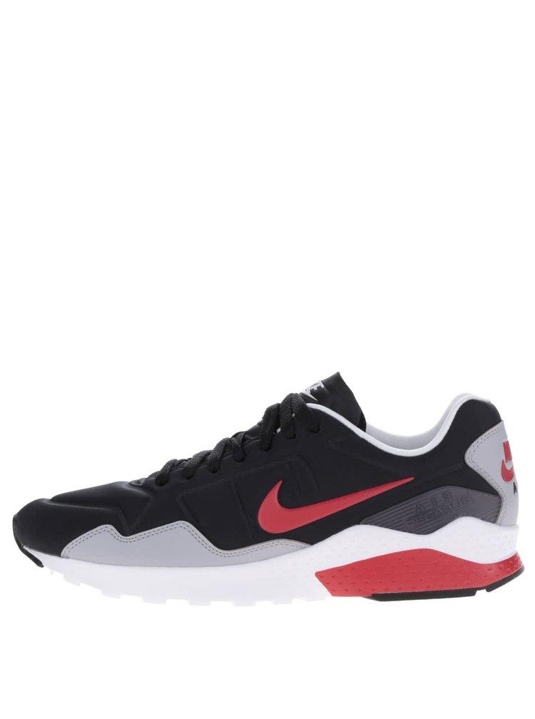 Šedo-černé pánské tenisky s červenými detaily Nike Air Zoom Pegasus