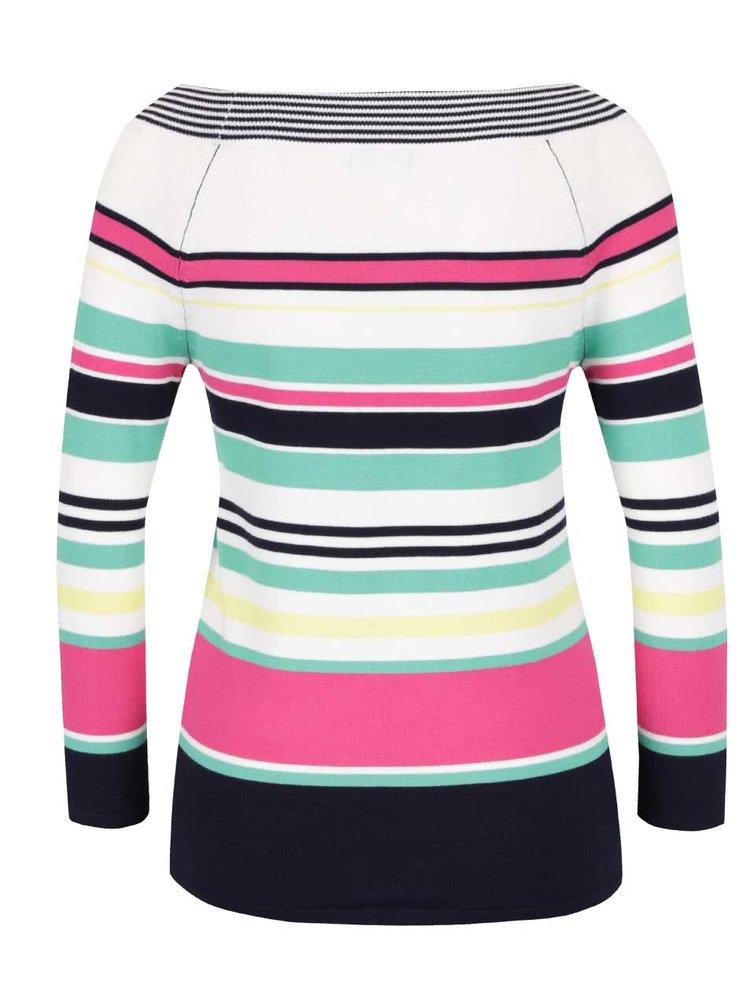 Pulover roz & crem M&Co cu model în dungi