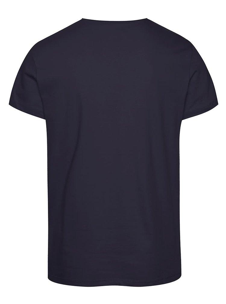 Tricou bluemarin Blend cu print