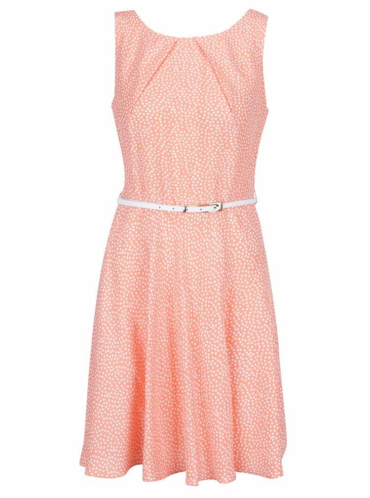 Rochie portocalie Apricot cu curea