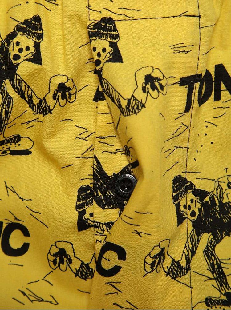 Boxeri galbeni cu model grafic negru Lousy Livin Tonic