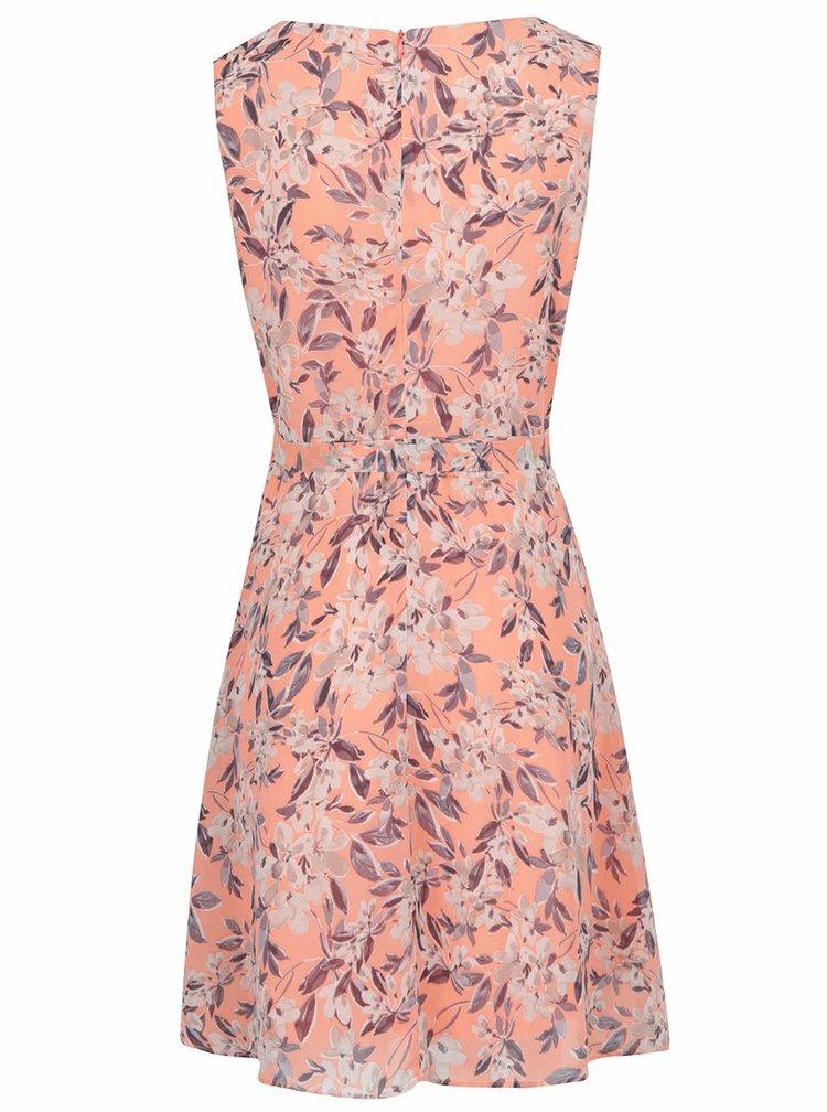 Meruňkové květované šaty Apricot